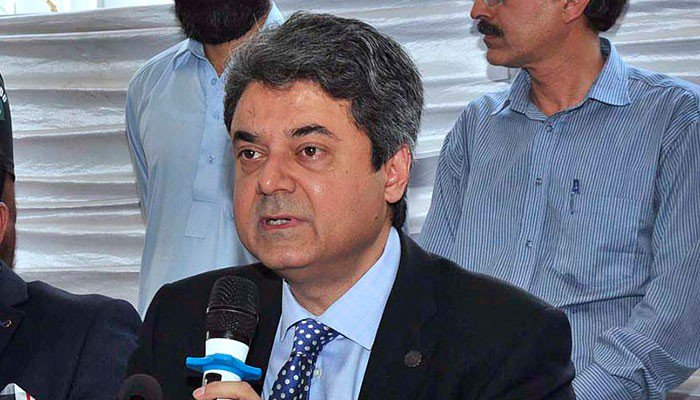 in a file photo law minister farogh naseem is seen speaking at a ceremony photo file