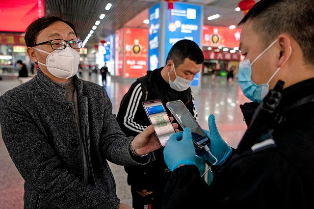tracking apps allow authorities to look back at someone 039 s travel history in the previous 14 days and see if they visited areas considered high risk for covid 19 photo afp