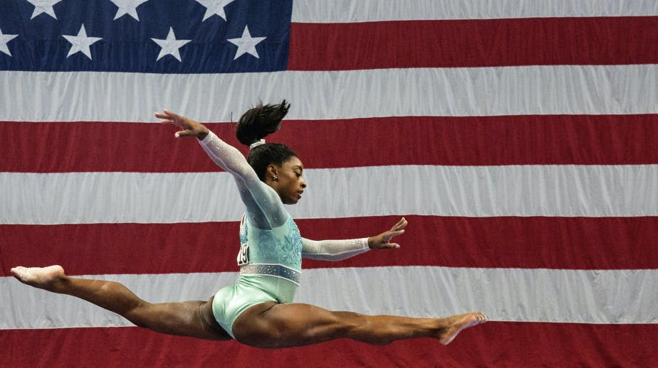 the us gymnastics championships which had been planned for june 4 7 at fort worth texas will be staged in the same city on june 3 6 2021 photo afp