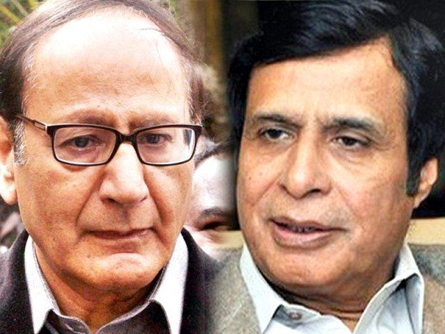 chaudhry shujaat hussain and chaudhry pervez elahi photo express file