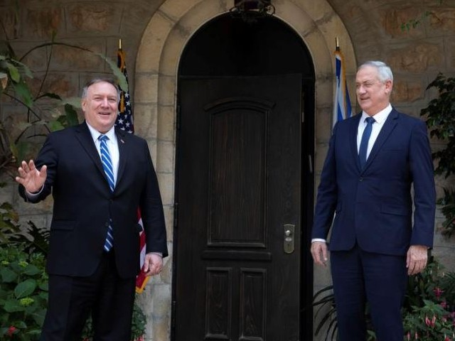 us secretary of state mike pompeo meets with israeli blue and white party leader benny gantz in jerusalem photo reuters