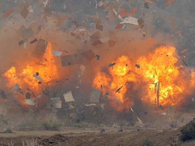 landmine blast kills boy injures father