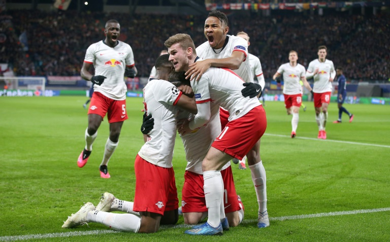 dfl reportedly urging players to refrain from contact at all times even recommending they tap elbows or feet instead of hugging to celebrate scoring goals photo afp