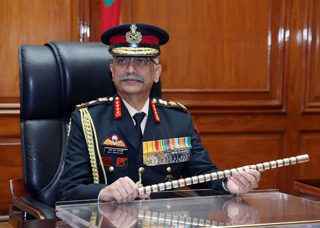 General MM Naravane alleged that the group is being supported by proxies from Pakistan and will be dealt with 'appropriately'. PHOTO: FILE
