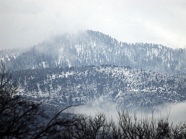 galiyat valley received over a foot of snowfall photo express file