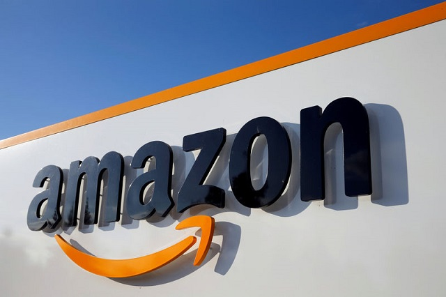 The Amazon logo at the company's logistics centre in Boves, France. PHOTO: REUTERS/File