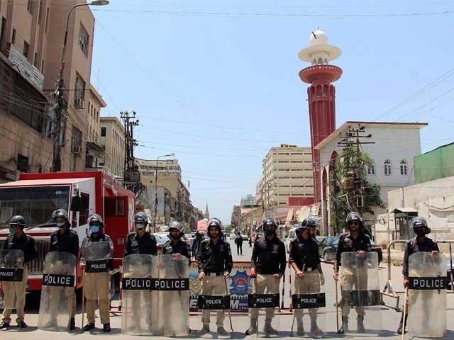 A file photo of Covid-19 lockdown in Karachi. PHOTO: EXPRESS
