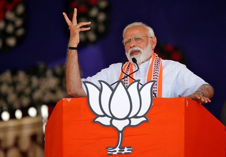 a reuters image of narendra modi