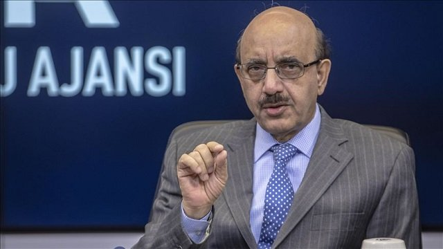 file photo of ajk president sardar masood khan photo anadolu agency