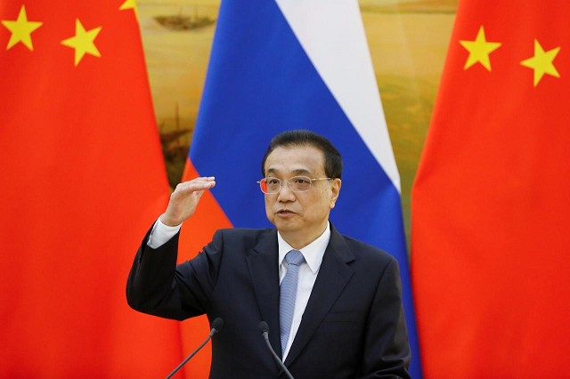 chinese premier says two countries should develop their relationship on the basis of equality respect photo reuters file