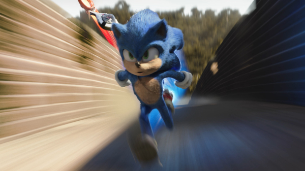 sonic ben schwartz in sonic the hedgehog from paramount pictures and sega photo credit courtesy paramount pictures and sega of america