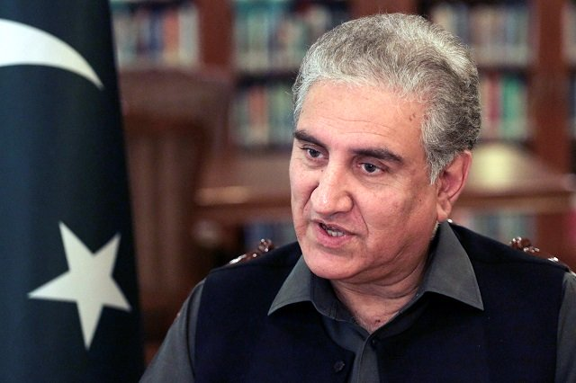 Foreign Minister Shah Mehmood Qureshi says the real Indian motive behind blaming Pakistan is to create a pretext for a 'false flag operation'. PHOTO: REUTERS/FILE