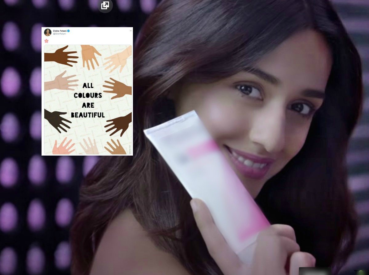 disha patani trolled for calling out racism while endorcing fairness creams
