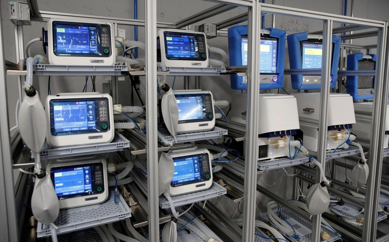 A Reuters image showing ventilators.