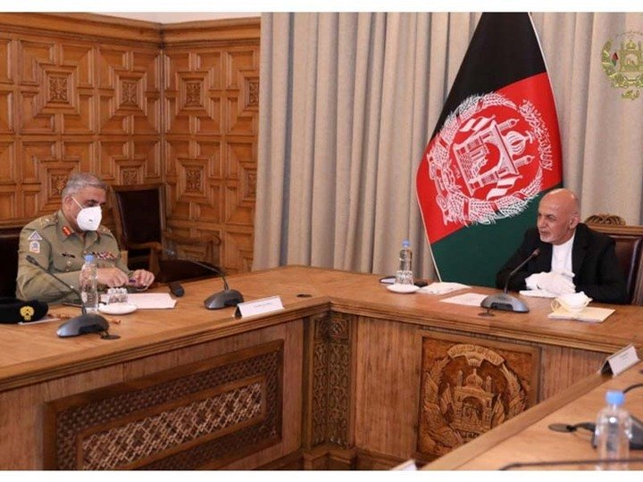 gen qamar president ghani discuss afghan peace process