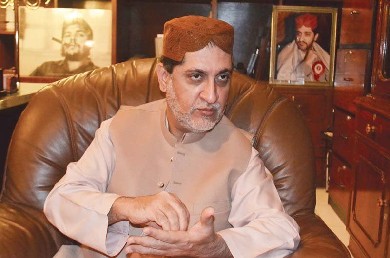 balochistan national party mengal chief akhtar mengal photo express