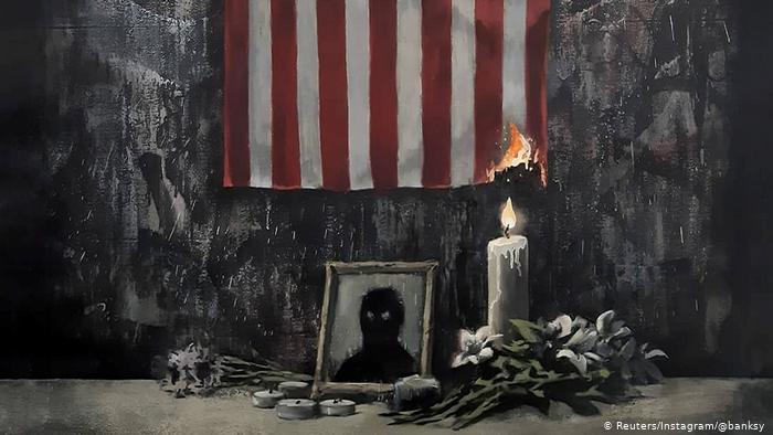 elusive and controversial banksy s new paintings honour black lives matter