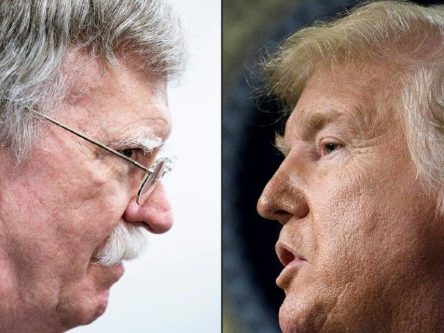 former us national security advisor john bolton l says president donald trump is not quot fit for office quot photo afp