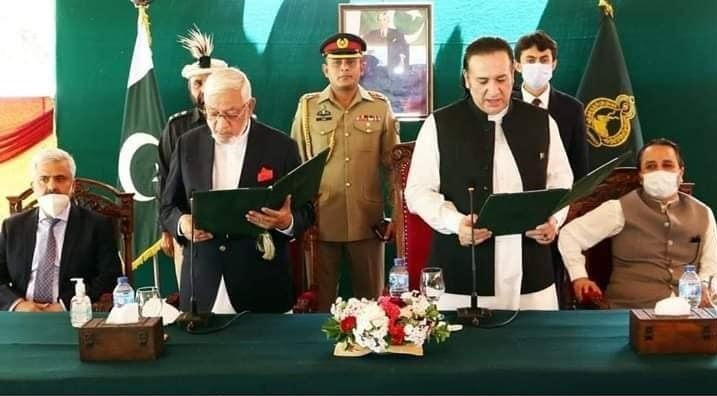 Mir Afzal becomes second caretaker chief minister of G-B. PHOTO: EXPRESS