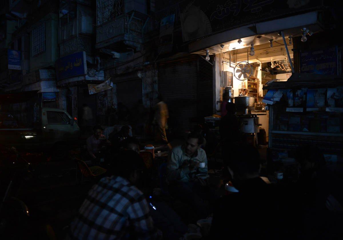 Blackout loadshedding load shedding PHOTO: AFP