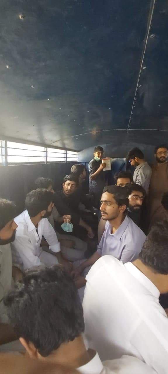 students arrested by police photo twitter raza shabina