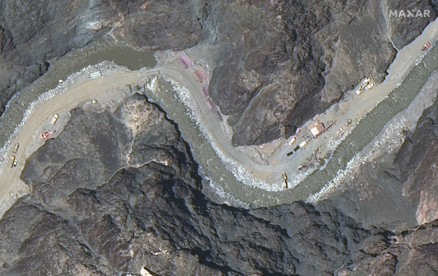 satellite images show new chinese structures near site of border clash with india