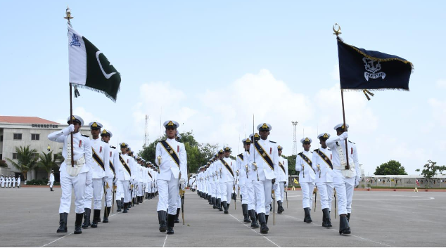 passing out parade of midshipmen ssc held at pakistan naval academy