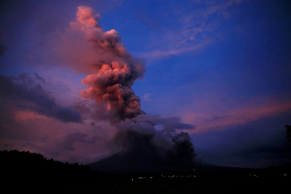 A view of the Mayon Volcano after a new eruption in Camalig, Albay province, south of Manila, Philippines. PHOTO: REUTERS
