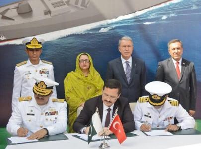 keel laying ceremony of pakistan navy s milgem class warship held