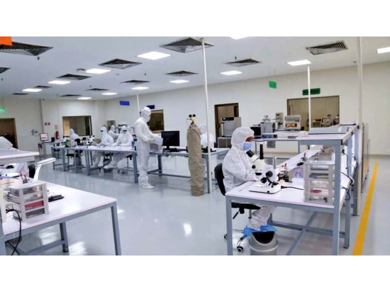 scientists busy at work in the laboratory of n ovative health technologies at the national university of science and technol ogy nust photo express