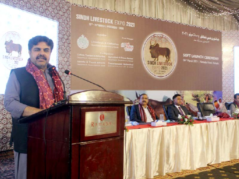 sindh information minister syed nasir hussain shah lauds the organising of livestock expo 2021 photo express