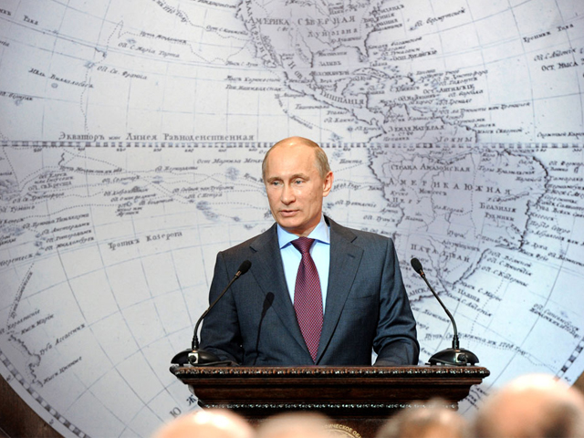 president elect vladimir putin speaks in the russian geographical society in st petersburg photo afp