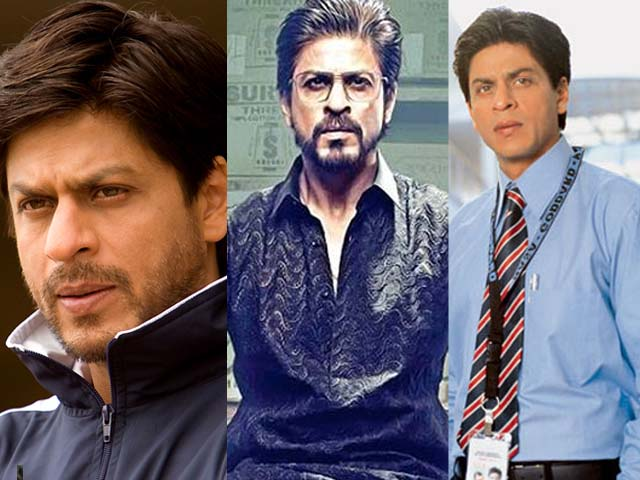 (Left to right) Shahrukh Khan in Chak De India, Raees and Swades.