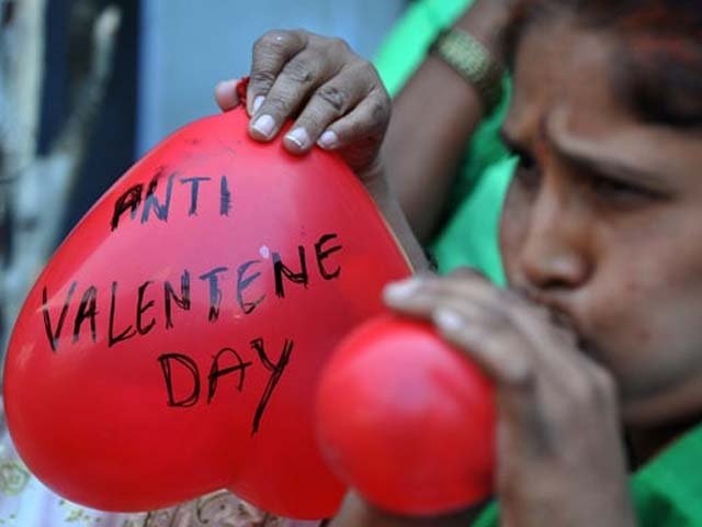 Valentine's Day can mean whatever you want it to mean for you. PHOTO: AFP.