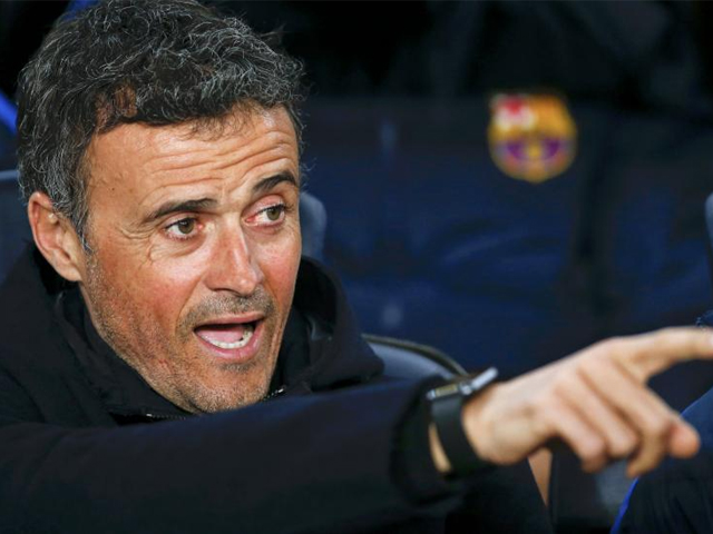 Barcelona's coach Luis Enrique Martinez before the match against Leganes. PHOTO: REUTERS