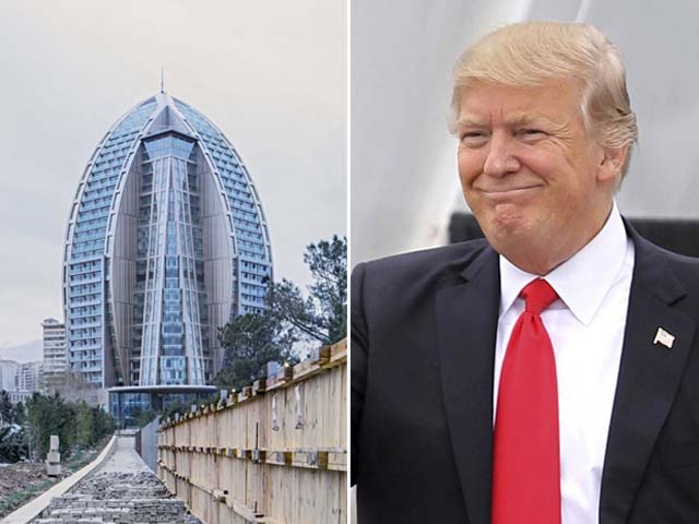 The Trump organisation denies a whole-hearted involvement in the Trump International Hotel and Tower Baku deal.