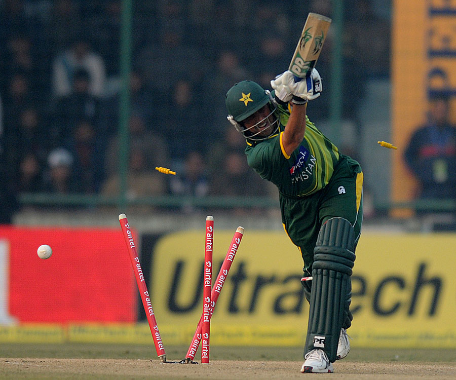 younis khan being bowled out photo bcci
