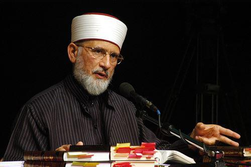 a file photo of mqi chief tahirul qadri taken during one of his religious lectures