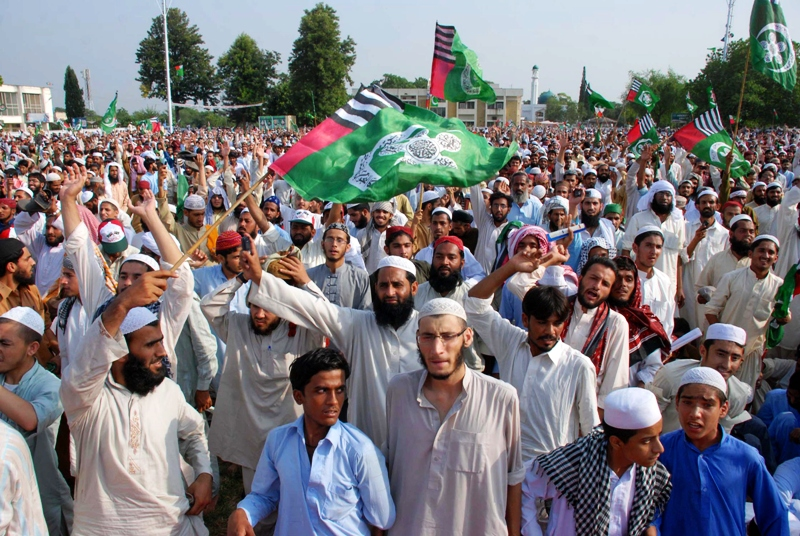 A file photo of an ASWJ rally. PHOTO: MUHAMMAD JAVED/EXPRESS/FILE
