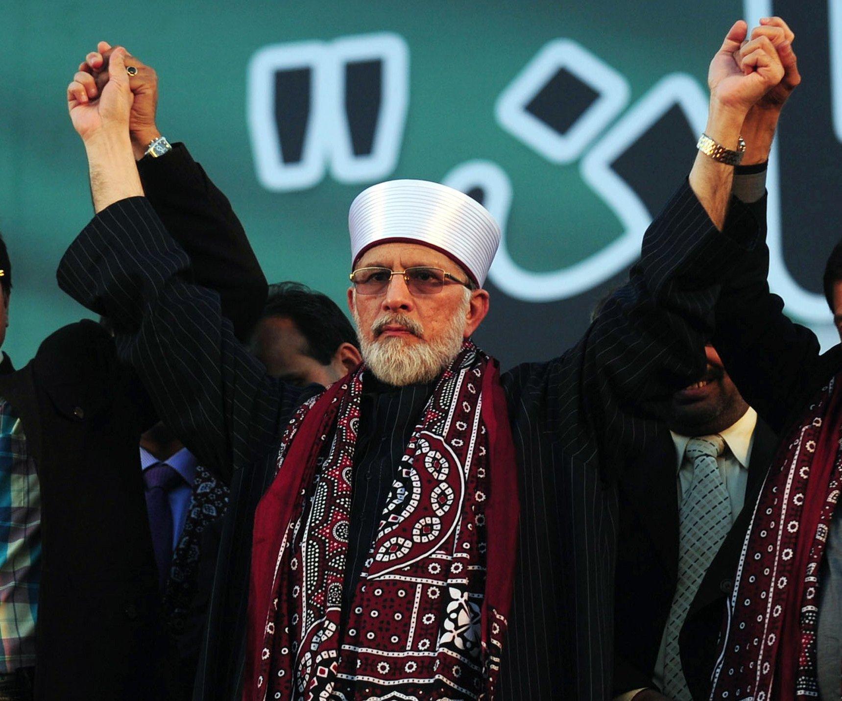 file photo of tahirul qadri photo afp file