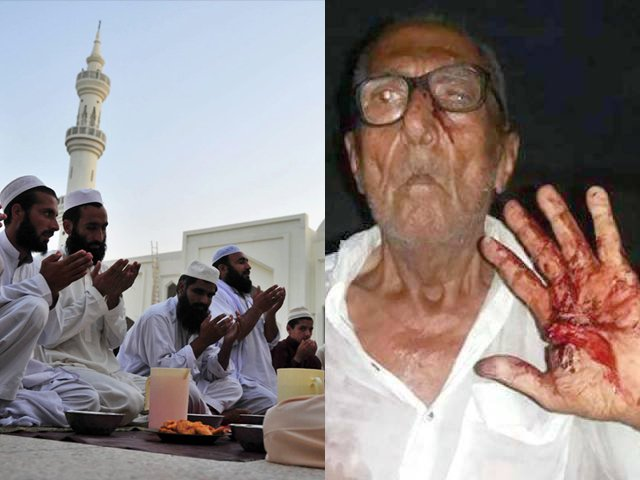 Last year, an 80-year-old Hindu man was beaten up brutally by a policeman for eating rice 40 minutes before iftar time.
