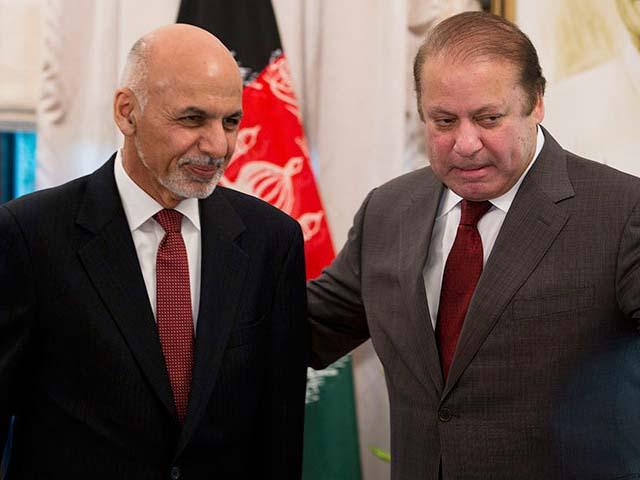 ashraf ghani ahmadzai and prime minister nawaz sharif photo afp
