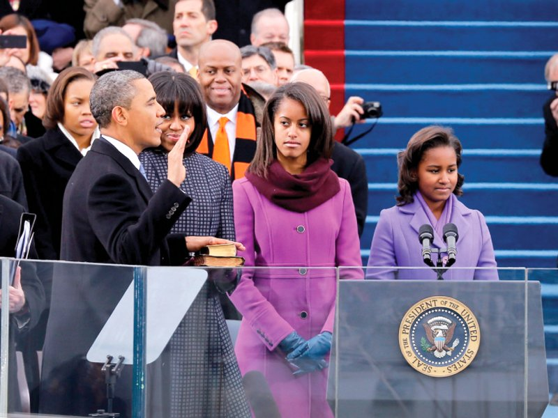 presidential oath obama promises to uphold democratic values