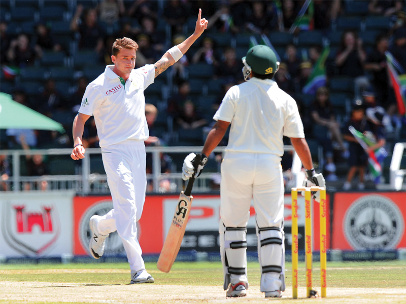 steyn was the chief tormentor against pakistan with 11 wickets in the match as the tourists struggled to handle his fiery spells photo afp