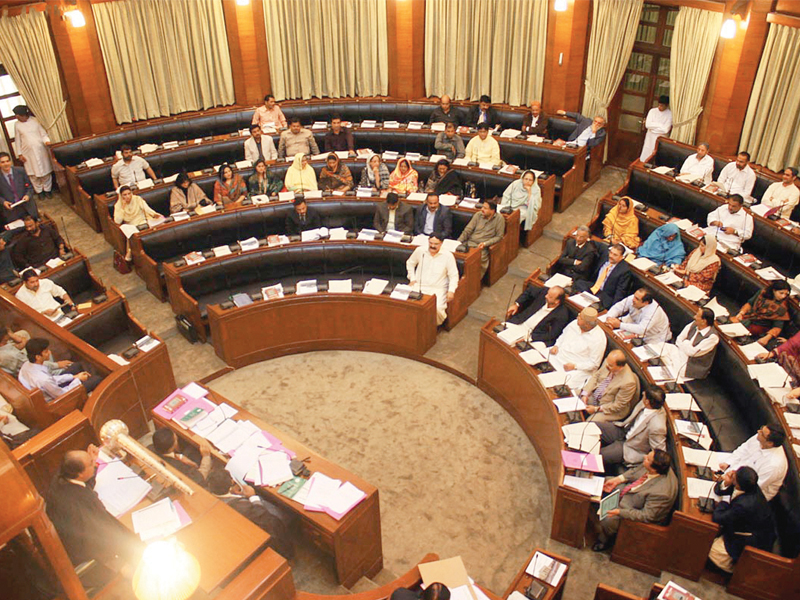 file photo of the sindh assembly photo online file
