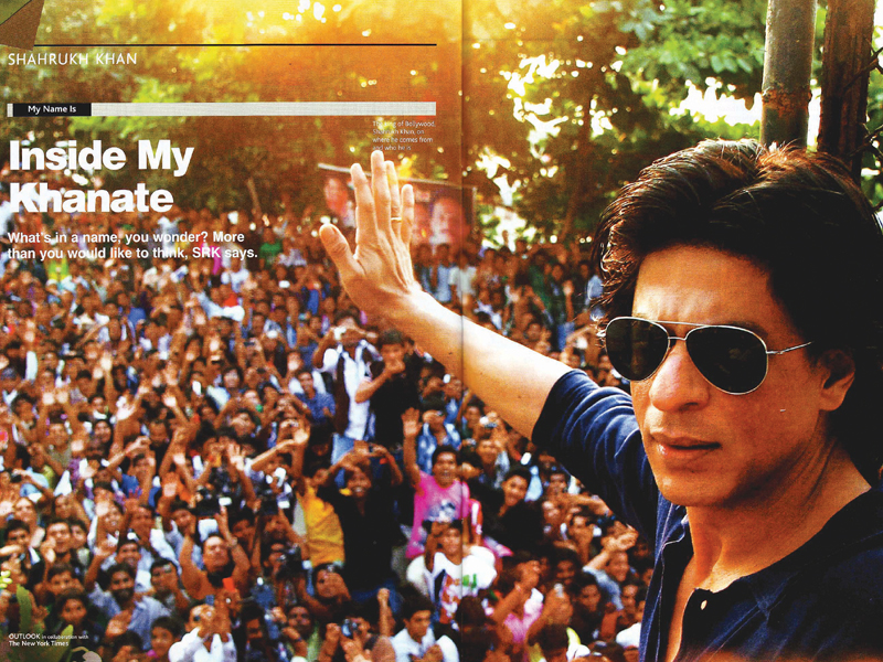 shahrukh khan gave his first person account in the outlook turning points magazine photo ians