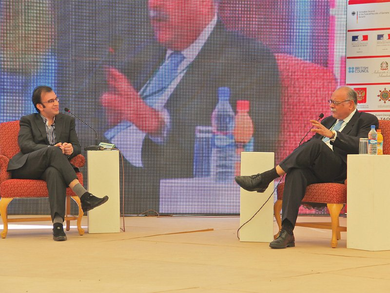 najam sethi adds to his list of predictions at the karachi literature festival photo ayesha mir
