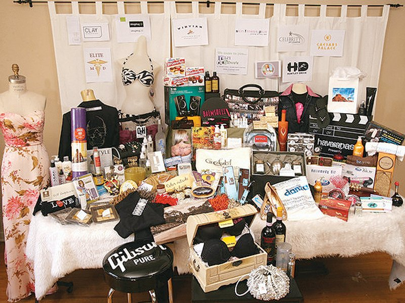 Among the items in the gift bags, known as swag bags, are trips to Australia, Hawaii and Mexico