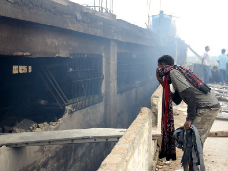 a deadly fire swept through the factory in september last year killing over 258 employees in one of the world s deadliest industrial disasters photo ayesha mir file