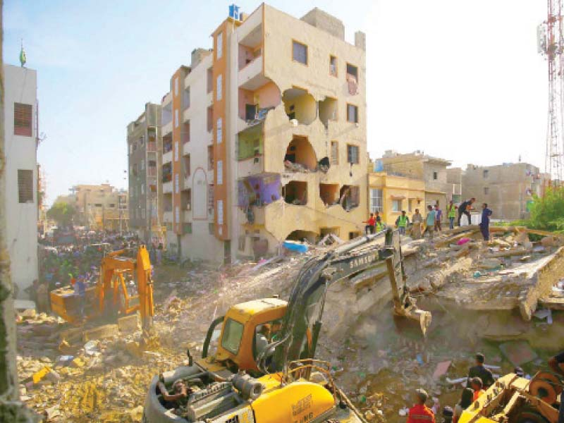 relief operations continue for korangi building collapse